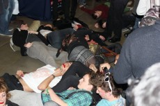 Group of students at a die-in