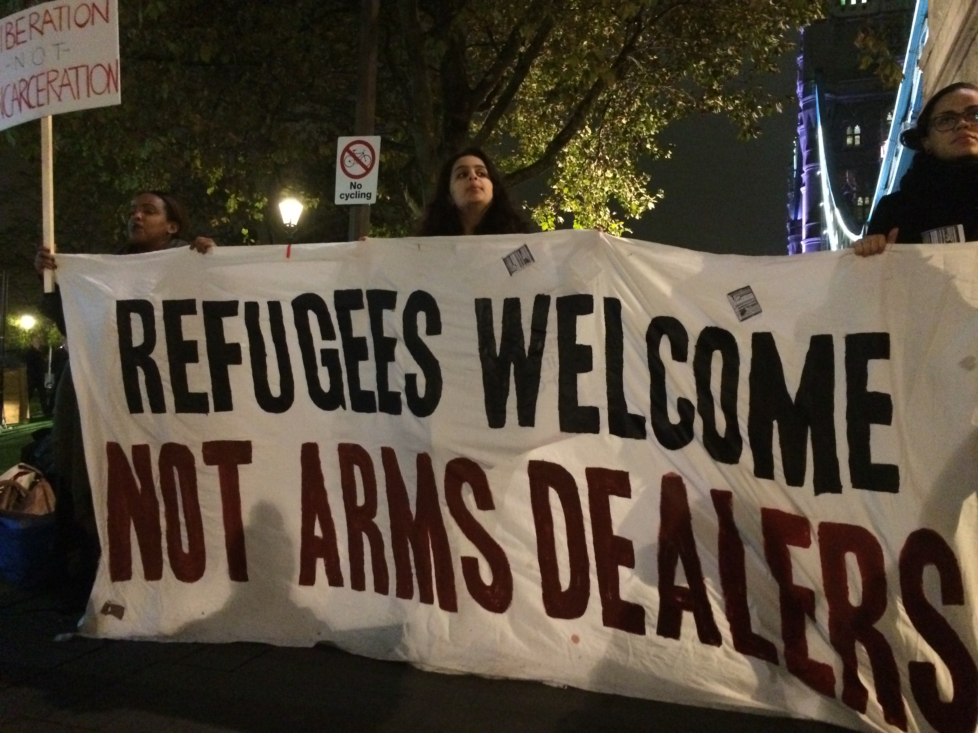 """Refugees Welcome Not Arms Dealers"" Detention and Security Summit in November"